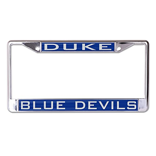 WinCraft NCAA Duke Blue Devils Inlaid Metal License Plate Frame, 2-Tag Corners (Blue Mirror License Plate)
