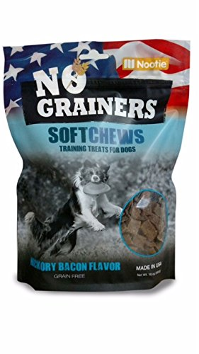 Grain Free Dog Treats and Dog Chews by Nootie No-Grainers (Hickory Bacon, 12.5)