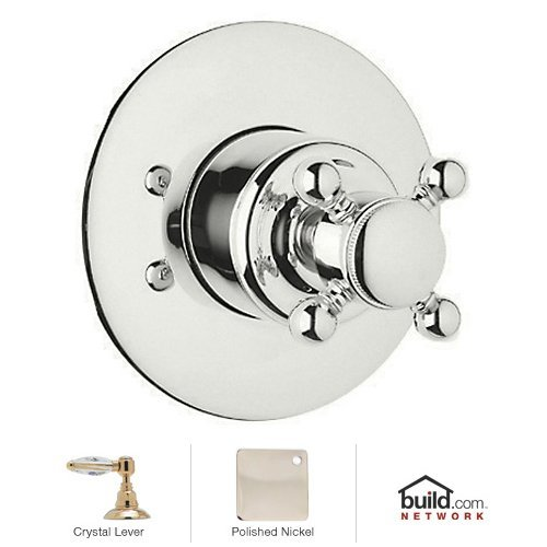Rohl A2700LCPNTO Country Bath 4-Port, 3-Direction Diverter Trim Only, Polished Nickel