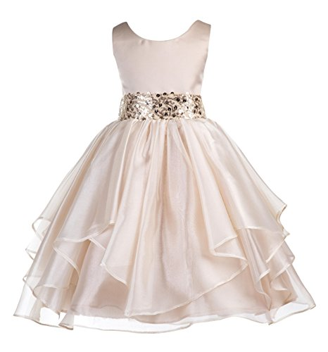 ekidsbridal Organza Flower Girl Dress Pageant Gown Special Occasion Dresses 012s 4 -