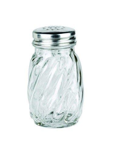 Swirl Shaker - Anchor Hocking Swirl Glass Salt and Pepper Shaker with Lid, 3¼ oz. (Set of 12)