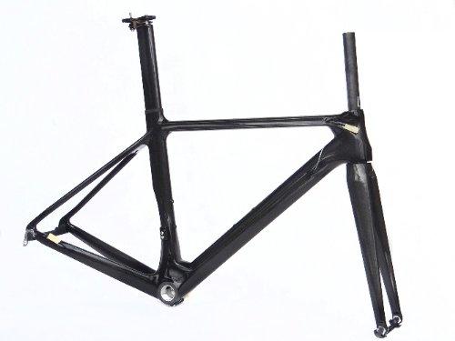フルカーボン 3K 光沢 700c ロードバイク 自転車 BSAフレーム フォーク シートポスト クランプ 56cm   B00EQOOTAI