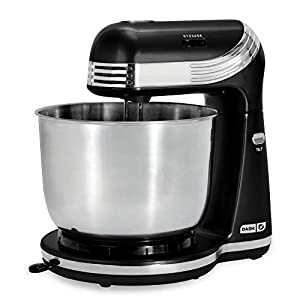 Dash Stand Mixer, 3 qt Stainless Steel Mixing Bowl, Aqua & DMTO100GBAQ04 Mini Toaster Oven Cooker for Bread, Bagels…