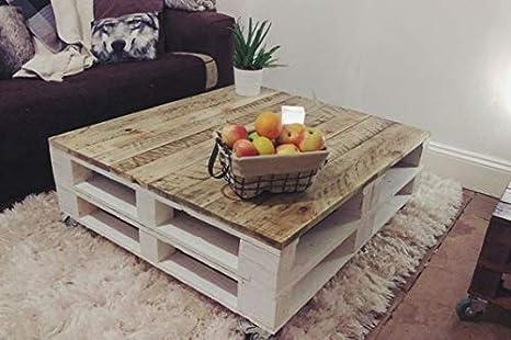 Mesa de Palets Pintada en Color Blanco Madera & Diseño Modero