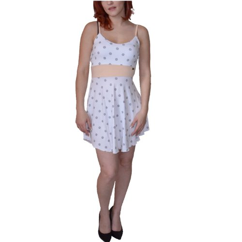 Pussy Deluxe Kleid Peach Pearl Dress White KWR5M