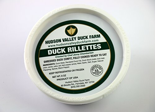 Hudson Valley Duck Farm 'Farm to Table' Duck Rillettes - 1.5 lbs (3 one half pound individual packages) by Hudson Valley Duck Farm