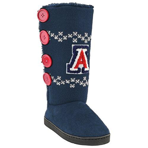 NCAA Arizona Wildcats Women's Button Up Stadium Boots, Small, Black