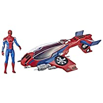 Spider-Man: Far from Home Spider-Jet with – Vehicle Toy & 6