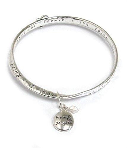 - Mom and Daughter Twisted Bangle Bracelet BY Charm
