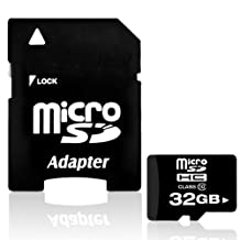 Generic 32GB Micro SDHC Memory TF Card Class 10 w/ Adapter Compatible with Smart Phone, Tablet (32 GB)