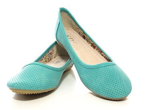 Grün Slipper 5773 Halbschuhe Damen Ballerina xATw0nt401