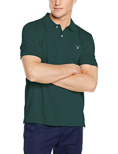 Polo Ss Verde Pique tartan Green Hombre Para Gant Rugger 374 Original qx4CPIwI