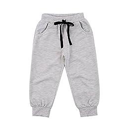 2pcs Kids Baby Boys Cotton T shirt + Pants Set Outfits Clothing 6-12Months Black
