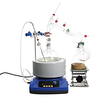 Destilador de vapor de aceite esencial de laboratorio de 2000 ml, apparato de cristal,