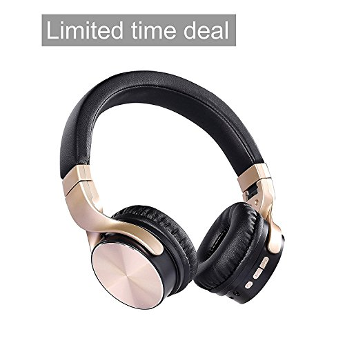 Wireless Headphones, JBUNION Bluetooth 4.1 Running Gaming Sport Work Travel On-Ear Over-Ear Headsets with Mic Noise Canceling Stereo Remote Bass Earphones for iPhone iPad iPod Android Devices