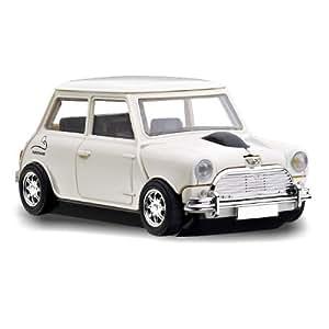 Classic Mini Cooper Blanco - ratón inalámbrico en la forma de un coche