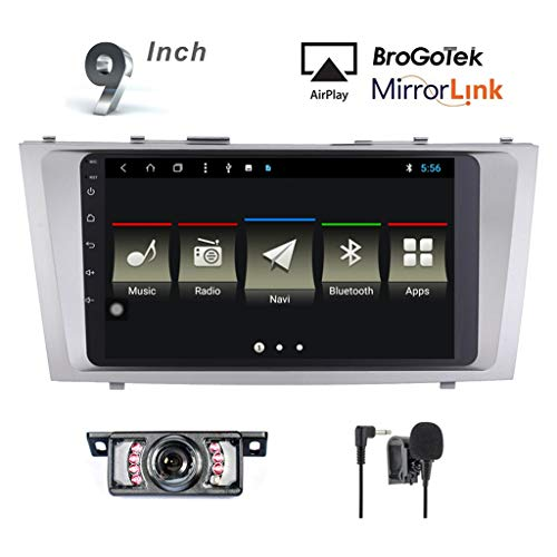 Android 7.1 Car Stereo Head Unit for Toyota Camry Corolla 2006-2011 Car Radio Double Din GPS Navi Navigation 9 Inch IPS Panel Touch Screen Bluetooth Radio SWC 4G WiFi CAM-in (IPS Panel Camry)