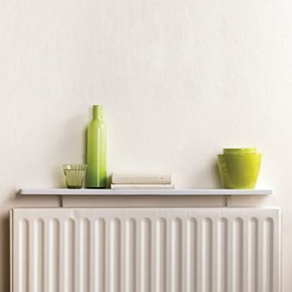 Duraline White Radiator Shelving Shelf Cover Wall Brackets Display