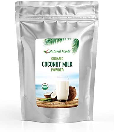 Z Natural Foods Organic Coconut Milk Powder - 5 lb - All Natural Creamer & Dairy Alternative - Vegan, Paleo, & Keto Diet Friendly - Non GMO, Gluten Free, Kosher - Great in Coffee, Smoothies & Recipes