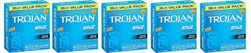 Trojan Condom ENZ UdOQc Lubricated, 36 Count (Pack of 5) UfzAc by TFoean