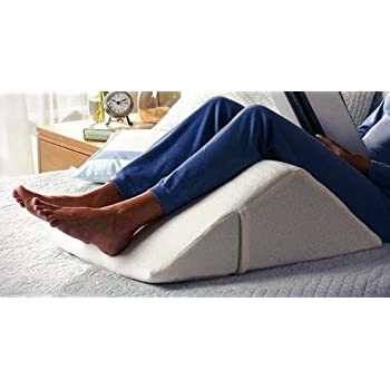 """The Angle"" Guaranteed to Help Reduce Back Pain - US Patented, Over 1 Million Happy Backs - Back Pain Relief, Therapy Wedge, 4 sizes to fit everyone Covered Plush Memory Foam, 100% Made in USA"