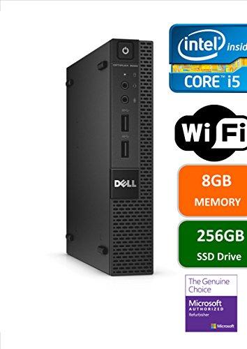 Dell Optiplex 9020 Ultra Small Tiny Desktop Micro Computer PC (Intel Core i5-4570T, 8GB Ram, 256GB Solid State SSD, WIFI, Bluetooth, HDMI Win 10 Pro (Certified Refurbished)