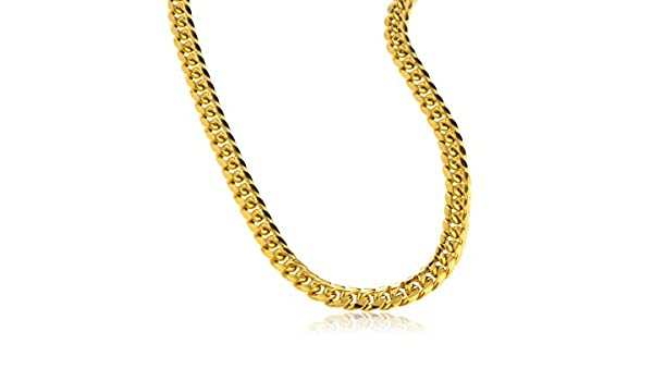 90cc3f2f6699b JOTW 10K Gold Necklace 6mm Miami Cuban Hollow Chain - 24
