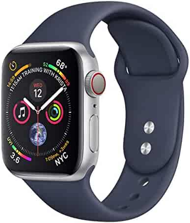 Compatible for Apple Watch Band 38mm 40mm 42mm 44mm, Soft Silicone Replacement Wrist Strap for iWatch Series 4 3 2 1,Nike+