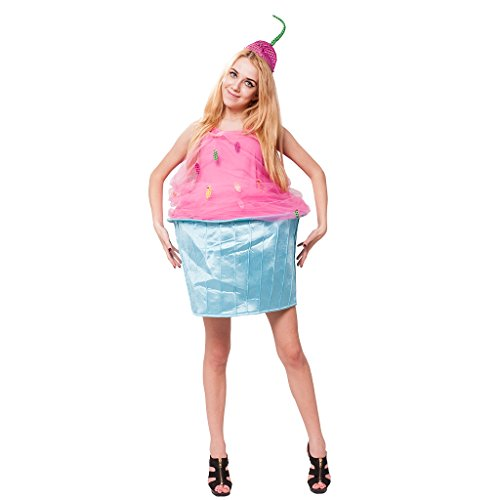 Womens Cupcake Costume (EraSpooky Women's Funny Cupcake Halloween Costume(As Picture, OneSize))