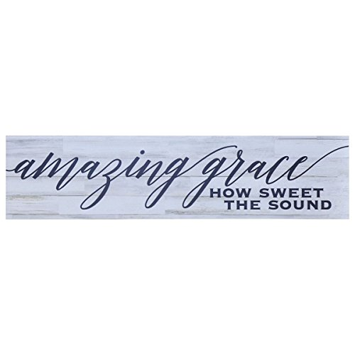 Amazing Grace Sign Wall Art decor Print decoration Family Gift for livingroom entryway kitchen bedroom By Dayspring Milestones (Amazing Grace)