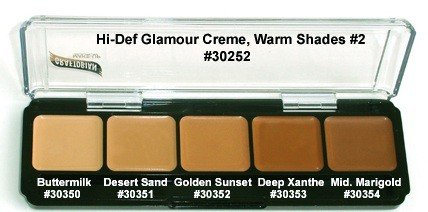 HD High-Definition Glamour Creme Palette, Warm ()