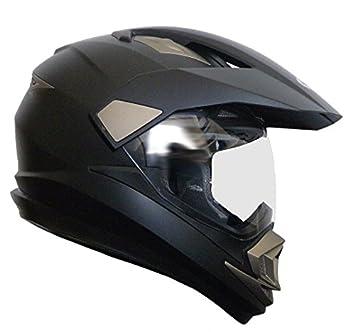 RALLOX Helmets - Casco de moto motocross Enduro Negro mate Rallox 14 (S M L XL XXL
