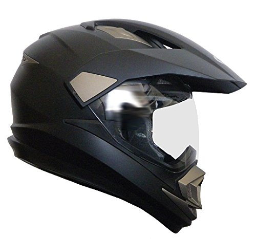 Crosshelm Integralhelm Helm Motorradhelm Rollerhelm RALLOX XP14A schwarz/matt (S, M, L, XL, XXL) Größe L