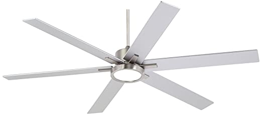 70 nucleus possini brush nickel led ceiling fan amazon aloadofball Image collections