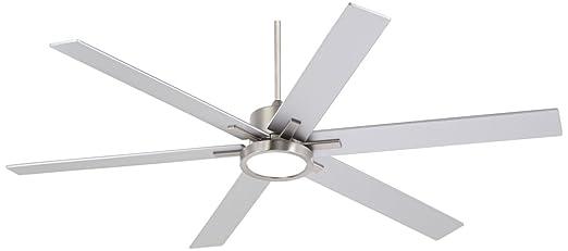 70 nucleus possini brush nickel led ceiling fan amazon 70quot nucleus possini brush nickel led ceiling fan aloadofball Choice Image
