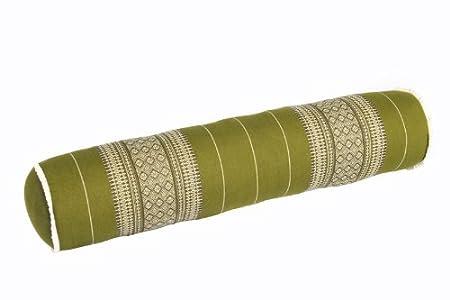 80x20 cm Kapok Yogarolle Kissenrolle f/ür Massage oder Yoga Feste Nackenrolle Handelsturm Thaikissen Rolle ca