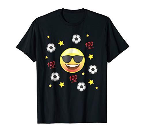 Emoji Love Play Soccer Team T-Shirt Shirt Kids Mom Dad -
