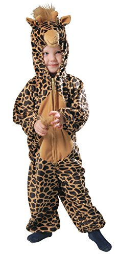 [UHC Giraffe Spotted Plush Jumpsuit Toddler Kids Fancy Dress Halloween Costume, Child (1-2)] (Giraffe Spotted Plush Toddler Costumes)
