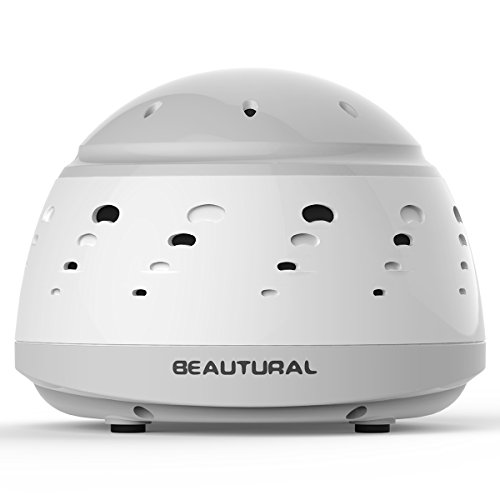 Beautural All-Natural White Noise Sound Generator Machine, Sleep Easy Aid Device, Adjustable Tone & Volume