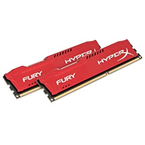 Kingston HyperX FURY 16GB Kit (2x8GB) 1333MHz DDR3 CL9 DIMM - Red (HX313C9FRK2/16) 41qFCTqQnWL. SS300