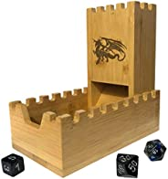 Bamboo Dice Tower | Special Edition Wooden Rolling Case | Perfect for DM's, Mini Games, RPG Players, DND,