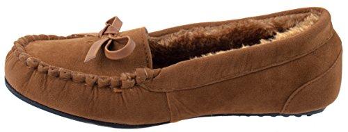 Zapatos De Equipo Mujeres Cherry-22 Faux Suede Mocasines Mocasines Planos Con Interior De Piel Y Suela De Goma