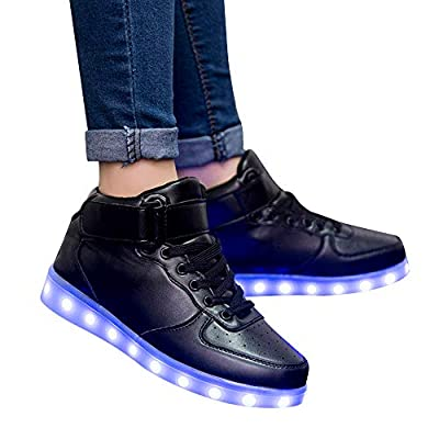Start Unisex LED Shoes USB Charging Light Up Glow Shoes Fashion Sneakers