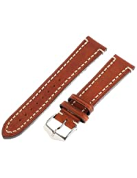 Hirsch Liberty One Piece Gold Brown Calf Leather Watch Strap 109002-70-20