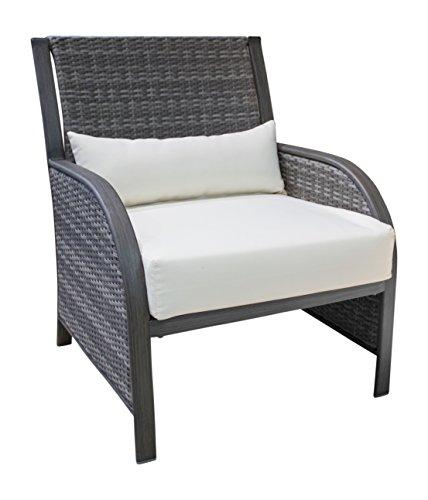 Panama Jack PJO-1501-GRY-LC Newport Beach Lounge Chair, Grey (Patio Furniture Newport Beach)