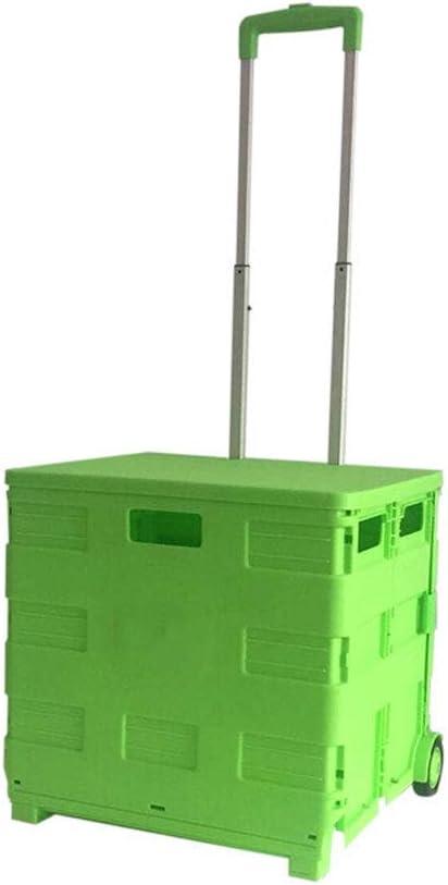 MIEMIE Trolley Creative Folding Shopping Puede Sentarse Carro pequeño Carro de Compras Grande portátil con Ruedas para comestibles