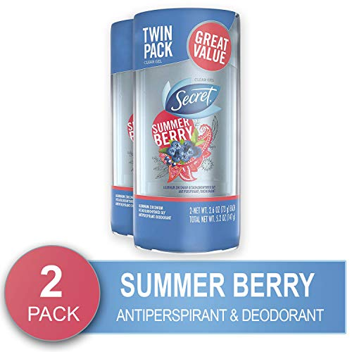 Secret Antiperspirant and Deodorant for Women, Fresh Clear Gel, Summer Berry Scent, 5.2 Ounce (Pack of 1)