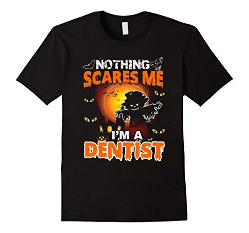 [Mens Funny Dentist Halloween Gift T-Shirt Large Black] (Funny Dentist Costume)