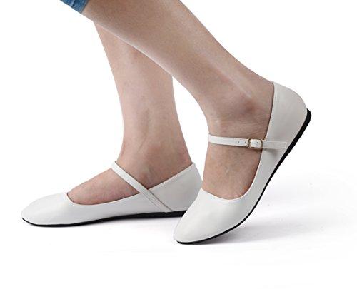 White Ballet Nova Womens Utopia Mary Style Flats Jane Mjnew n6R8w7