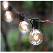 Amazon best sellers best outdoor string lights 25ft g40 globe string lights with clear bulbsul listed backyard patio lightshanging workwithnaturefo